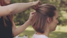 شینیون موی کوتاه برای عروسی-شینیون دخترانه 2018