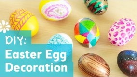 رنگ کردن تخم مرغ با گواش