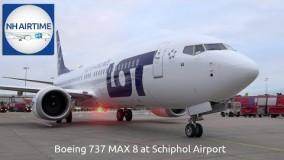 BOEING 737 MAX 8 در فرودگاه آمستردام