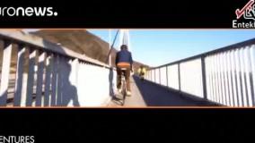 فیلم/ دریاپیمایی با دوچرخه در مجمع الجزایر ژاپن