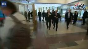 فیلم/ لحظه رای دادن پوتین در انتخابات ریاست جمهوری روسیه