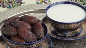 مخلوط شیر و خرما
