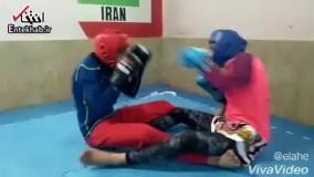 فیلم/ تمرینات سخت خواهران ووشو کار منصوریان