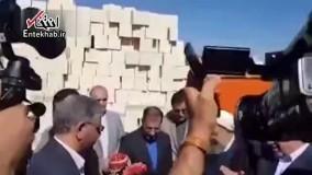 فیلم/ حضور روحانی در روستای زلزله زده فتاح بگ / روستایی که در زلزله کرمانشاه تخریب کامل شده بود