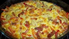 How To Make Vegetables Omelette In Oven - آموزش درست کردن املت سبزیجات در فـر