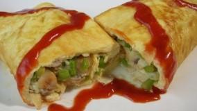 املت قارچ و پنیر Cheese & Mushroom Omelette
