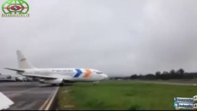 فرود باورنکردنی بوئینگ 737 بدون چرخ