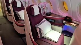 فیلم هواپیما مسافربریQatar Airways A380 Business Class