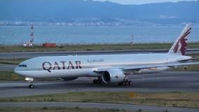 Qatar Airways Boeing 777-300ER A7-BAL Landing and Takeoff 【KIX/RJBB】