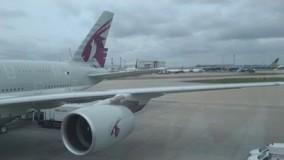 فیلم هواپیما مسافربریQatar Airways   A380-800   Doha to London
