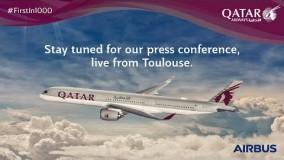 فیلم هواپیما مسافربریQatar Airways first A350-1000