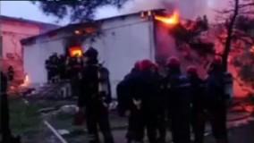 فیلم/ آتشسوزی بزرگ در مرکز ترک اعتیاد باکو با ۲۴ کشته