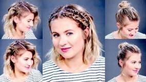 ارایش موهای کوتاه-مدل آرایش موی کوتاه