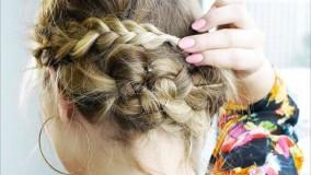 آرایش موی کوتاه-مدل شینیون برای موهای کوتاه