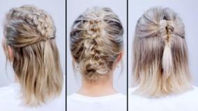 ارایش موهای کوتاه-شینیون برای موهای کوتاه
