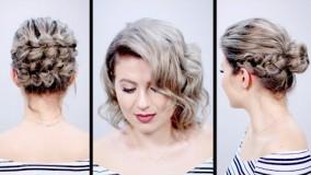 آرایش موی کوتاه-شینیون موی کوتاه زنانه