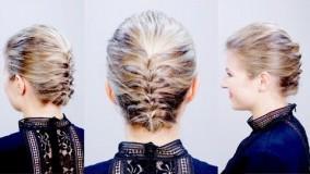 آرایش موی کوتاه-شینیون موی کوتاه برای عروسی