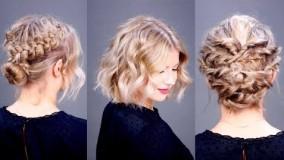 درست كردن مو کوتاه در منزل-مدل مو باز و بسته2