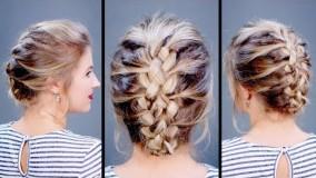 آرایش موی کوتاه-شینیون موی کوتاه زنانه 2