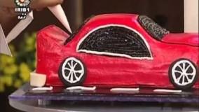 تزئین کیک به شکل ماشین