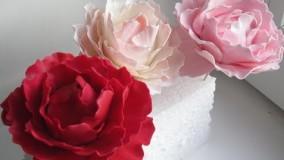 طرز تهیه گل های شکری یا خوراکی ( برای تزیین کیک و ... )