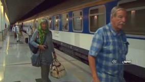 Iran international tourist traveling by Train to Isfahan ایران ورود قطار گردشگری بین المللی اصفهان