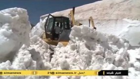 برف وسط تابستان در مسیر مشگین شهر اردبیل