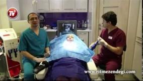 خانم ها! این ژل ممکن است کورتان کند! تخلیه ژل از صورت یک خانم توسط دکتر باریک بین