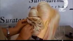 آموزش تصویری مرحله به مرحله شینیون مو