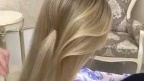 شینیون بسیار زیبای مو