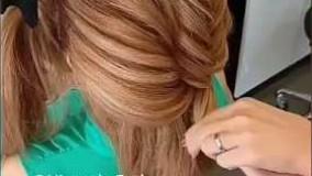 دانلود ویدئو مدل شینیون برای موهای کوتاه _مدل 1