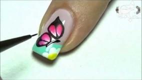 آموزش طراحی ناخن پروانه ای