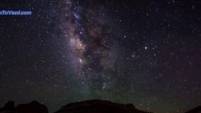 تایم لپس هایی زیبااز آسمان شب در مصر