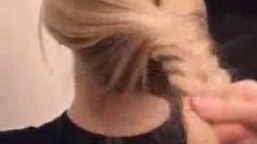 آموزش بافت مو و شینیون بسیار زیبا