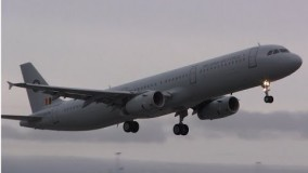 Belgian Air Force Airbus A321 - Takeoff & Landing