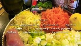 غذای رمضان-سوپ جو پرك-افطار رمضان
