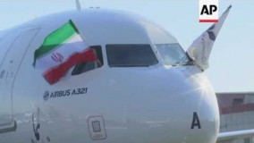 Iran's first new Airbus jetliner lands