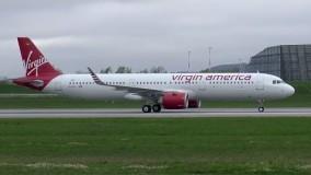 VIRGIN AMERICA Airbus A321NEO | First Flight | RTO, Stormy Takeoff & Landing
