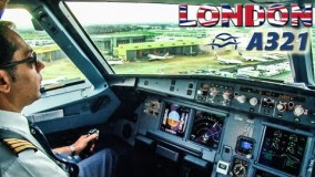 پرواز آتن به لندن در ایرباس 321