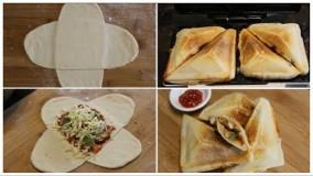 آشپزی آسان-تهیه پیتزا در ساندویچ ساز