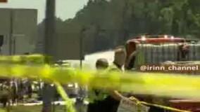 سقوط هواپیمای نظامی در آمریکا