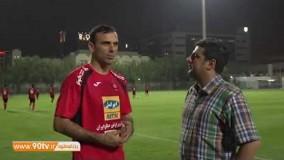 گفتگو با سید جلال حسینی در اردوی امارات