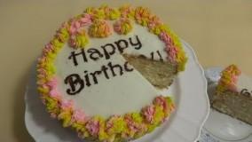 آموزش شیرینی پزی-  کیک تولد خامه ای