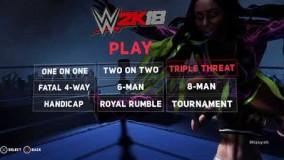 گیم پلی بازی کشتی کج 2018 WWE 2K18 ps4 پلی استیشن 4 part1