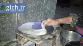 پخت نان-نان تابه ریز -نان سنتی در خانه