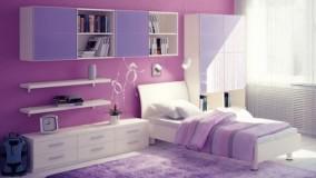 دکوراسیون اتاق خواب دخترانه بنفش-17-دکوراسیون اتاق خواب دخترانه جوان 2018