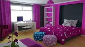 دکوراسیون اتاق خواب دخترانه بنفش-19-دکوراسیون اتاق خواب دخترانه جوان 2018