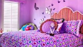 دکوراسیون اتاق خواب دخترانه بنفش-21-دکوراسیون اتاق خواب دخترانه 2018