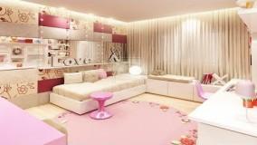 دکوراسیون اتاق خواب دخترانه-42-دکوراسیون اتاق خواب دخترانه فانتزی