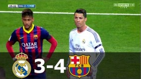 خلاصه بازی سال 2014 بارسلونا 4-3 رئال مادرید